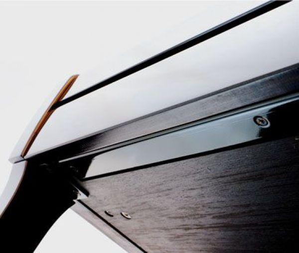 SATIN BLACK FIXED BENCH SKAY SITTING W.SHEETS DRAWER
